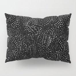 white on black dots Pillow Sham