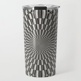 High tech silver metal surface Travel Mug