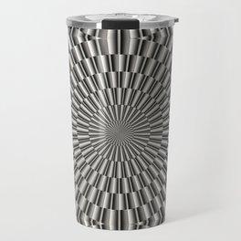 High tech silver metal surface Travel Mug