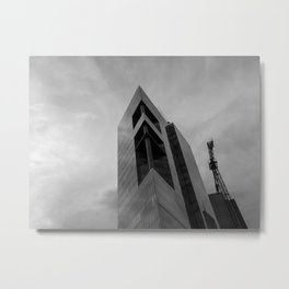Rising Monsters in the City (black and white) Metal Print