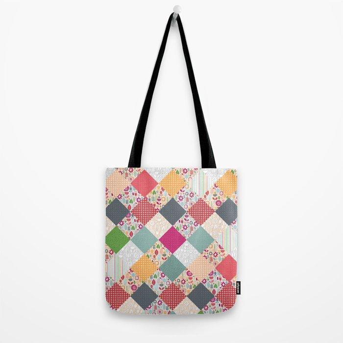 paper cut flower diamonds Tote Bag