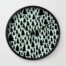 Mint x Pine Forest Wall Clock