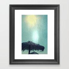 Umbrella On The Beach Framed Art Print