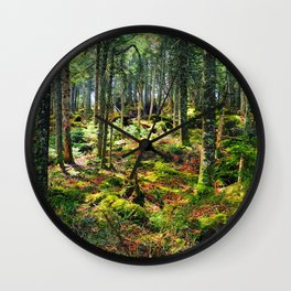 Late Spring Forest Wall Clock