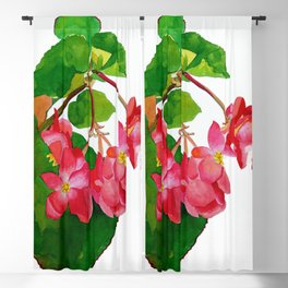Begonia Watercolour Blackout Curtain