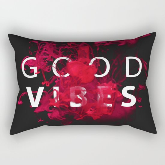 Good Vibes #buyart #lifestyle Rectangular Pillow