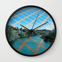 river Wall Clocks featuring River by Last Call