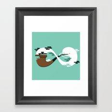 Infinite Pipe Framed Art Print