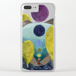 Cosmic Centers Clear iPhone Case