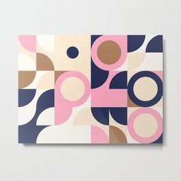 Abstract Geometric Composition 002 Metal Print