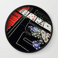 poker Wall Clocks featuring poker by yahtz designs