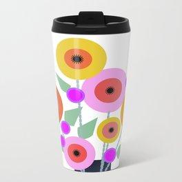 Floral Potpourri Metal Travel Mug