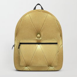 Yellow Gold Diamond Tufting Pattern Backpack