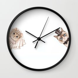 Cats wedding Wall Clock