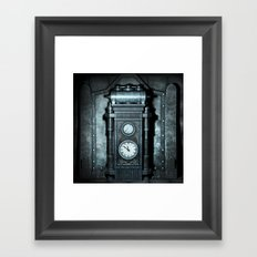 Silver Steampunk Generator Machine Framed Art Print