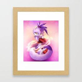 Blaze The Cat Framed Art Print