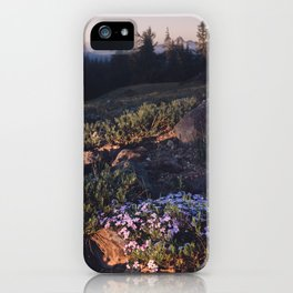 Wildflowers at Dawn - Nature Photography iPhone Case