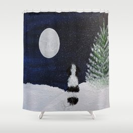 Winter Moon Gazer Shower Curtain