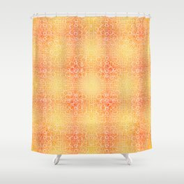 Brian's Bubbliscious Pattern (Fire Pit) Shower Curtain