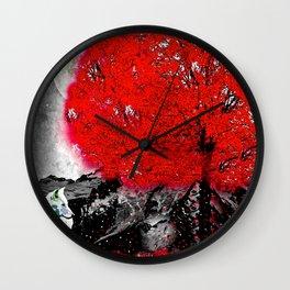 TREE RED WOLF Wall Clock