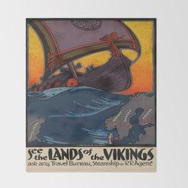 Vintage poster - Scandinavia Throw Blanket
