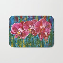 Magenta Orchids Bath Mat