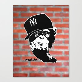 I'nstein Monkey Canvas Print