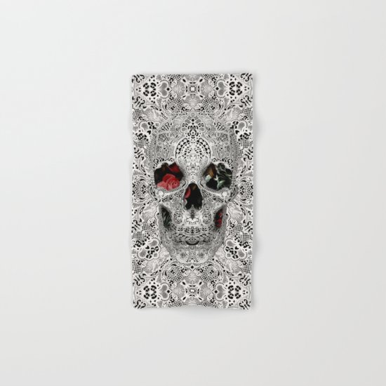 Lace Skull Light Hand & Bath Towel