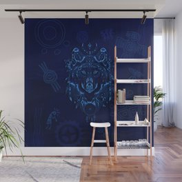 Sacred Blue Wolf Wall Mural
