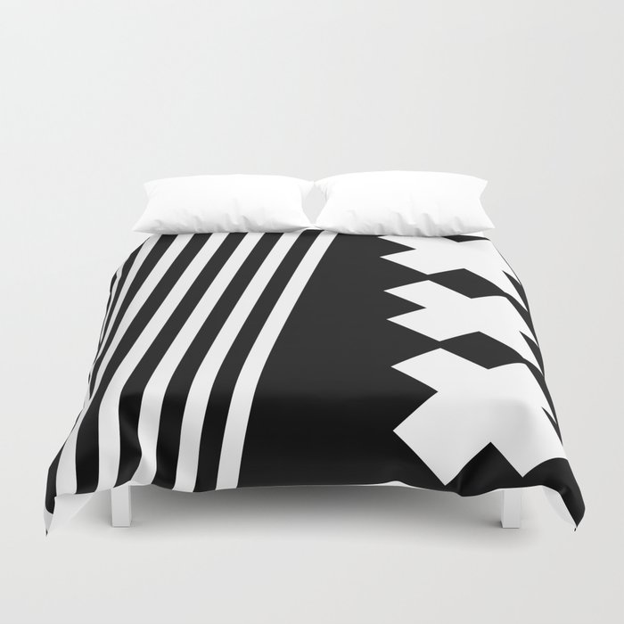 Bold Minimalism 2 (Black and White) Duvet Cover