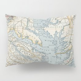 Vintage Map of the Chesapeake Bay (1901) Pillow Sham