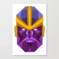 thanos Canvas Prints featuring THANOS by rybbrybson