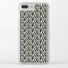 Black and White Zebra Print Pattern Clear iPhone Case