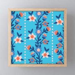 Chintzy Floral Stripe Framed Mini Art Print