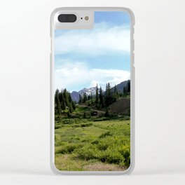Turnoff to 12,840-foot Black Bear Pass - A Frightening and Dangerous Road Clear iPhone Case