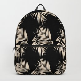 Palm Leaves Pattern #13 #Gold Touch #Black #decor #art #society6 Backpack