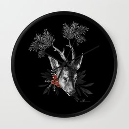 Renaissance Noir II Wall Clock