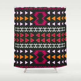 pink and yellow shower curtain. Native pattern in pink and yellow Shower Curtain Navajo Curtains  Society6