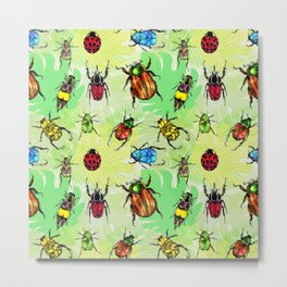 Beetles in Bermuda Metal Print