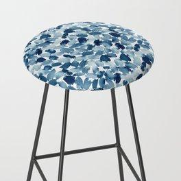 Blue Abstract Watercolor Bar Stool