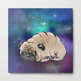 Celestial Pug Metal Print