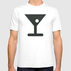 Alcohol White Mens Fitted Tee SMALL