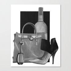 Fashion Illustration - Ink Wash Canvas Print