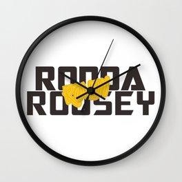 Ronda Rousey Rowdy Wall Clock