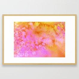 Candy Crushes Pink & Orange Framed Art Print