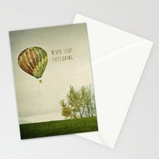 Never Stop Exploring ( Air Balloon) Stationery Cards