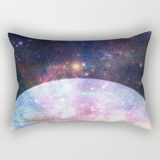 Mystic Lake : Fantasy Moon Landscape Rectangular Pillow