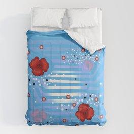 Grove poppies Comforters