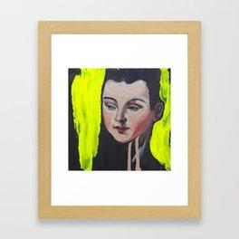 Neon Reef, paint marker mixed media Framed Art Print