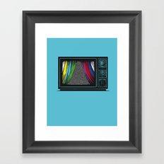 present the monohcrome Framed Art Print